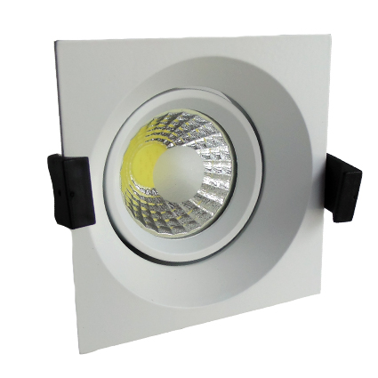 Downlight LED -ORIENTABLE- 10cm Cuadrado 8W